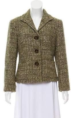 Lafayette 148 Tweed button-Up Blazer