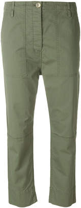 Theory cropped spring cargo trousers