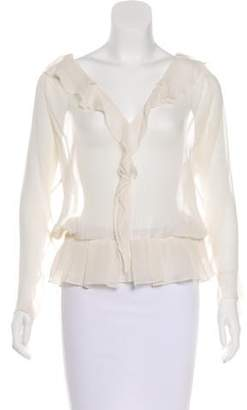Haute Hippie Sheer Silk Blouse