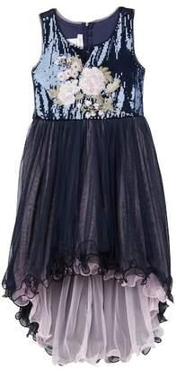 Iris & Ivy Embroidered Sequin Hi-Lo Dress (Big Girls)