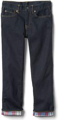 Gap Flannel-Lined Straight Jeans with Stretch