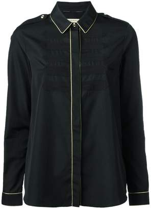 Burberry contrast piping shirt
