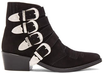 Toga Pulla Suede Buckled Booties