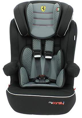 MyCarSit Ferrari High Back Booster Seat with Isofix Harness, Grey