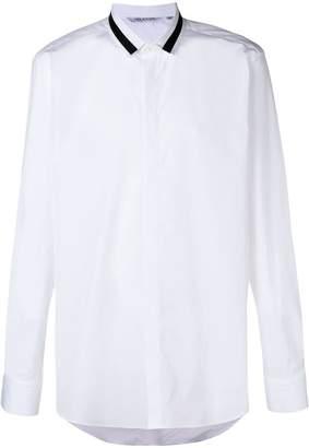 Neil Barrett striped collar shirt