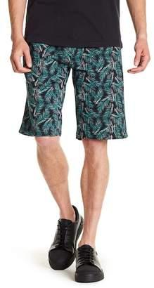 Wellington Palm Print Fleece Shorts