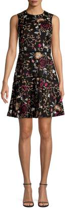 Vince Camuto Floral Embroidered Dress