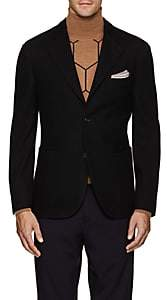 Boglioli Men's Casati Wool-Cotton Two-Button Sportcoat - Black