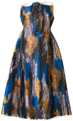 Marni Mikado printed satin dress