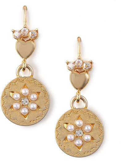Juicy Couture Small Circle Drop Earrings