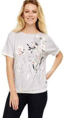 Phase Eight - Grey 'Orianna' Floral Print Top