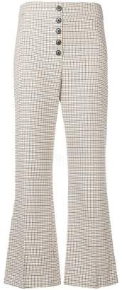 Veronica Beard checked cropped trousers