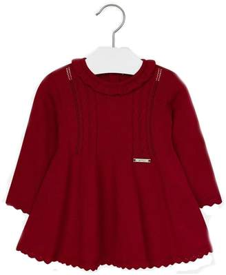 Mayoral Baby-Girl Red-Knit Dress