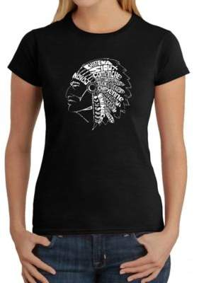 Women's Large Word Art Native American Tribes T-Shirt in Black $19.99 thestylecure.com
