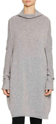 Jil Sander Funnel-Neck Long-Sleeve Oversized Cashmere Sweater