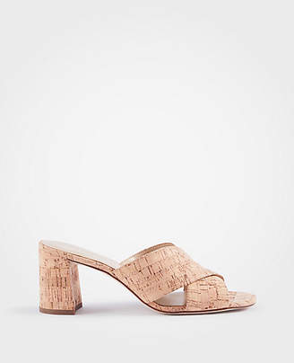 Ann Taylor Honor Cork Mule Sandals