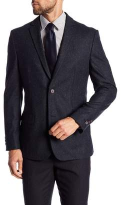 Vince Camuto Two Button Notch Lapel Tweed Jacket