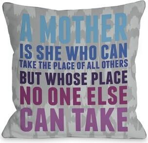 One Bella Casa Mother's Place Ikat Throw Pillow One Bella Casa