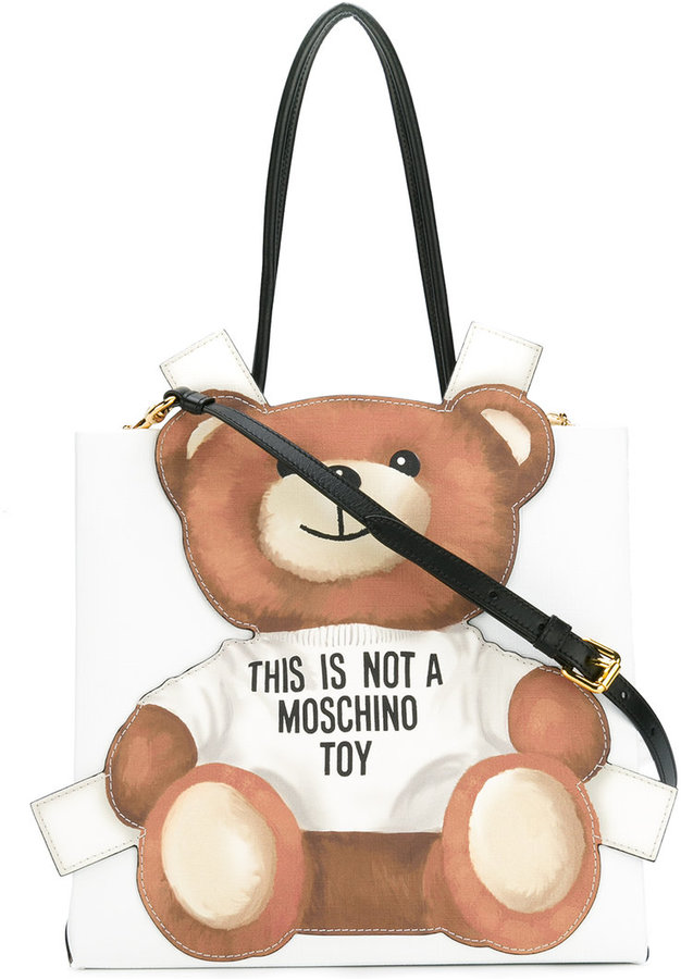 Moschino Moschino toy bear paper cut out toote