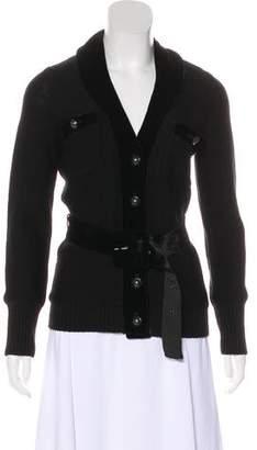 Magaschoni Velvet-Trimmed Wool Jacket