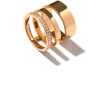 Repossi Technical Berbere Diamond Three-Row Band Ring in 18K Gold