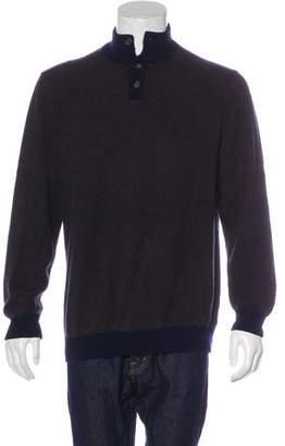 Luciano Barbera Cashmere Polo Sweater
