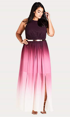 City Chic Statement Ombre Maxi Dress
