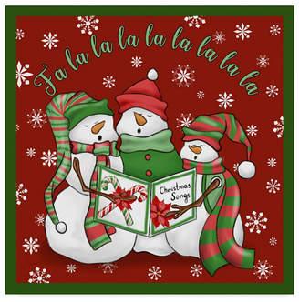 "Jean Plout 'Christmas Songs Snowmen' Canvas Art - 14"" x 14"""