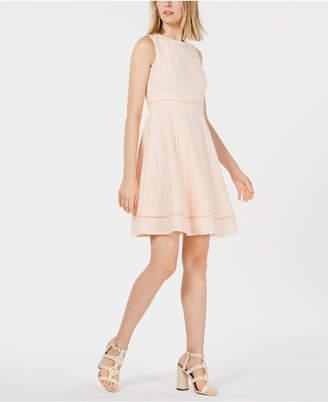 Calvin Klein Petite Eyelet Fit & Flare Dress