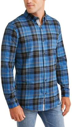 Burnside Men's Long Sleeve Brushed Woven, Up To 2Xl