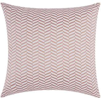 Nourison Luminecence Alternative Chevron Rose Gold Throw Pillow