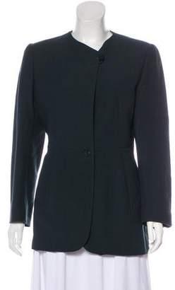 Giorgio Armani Long Sleeve Button-Up Blazer