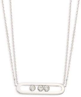 Möve Messika Classic 18K White Gold& Diamond Necklace