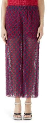 Gucci GG Macrame Wide-Leg Pants