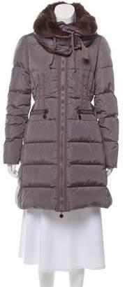 Moncler Fur-Trimmed Chouette Puffer Coat