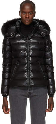 Free Express Shipping at SSENSE · Moncler Black Down and Fur Bady Jacket