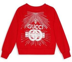 Gucci Little Girl's& Girl's Embellished Logo Sweater