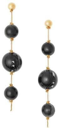 Burberry Marbled Resin Gold-plated Drop Earrings