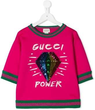 Gucci Kids sequin diamond sweatshirt