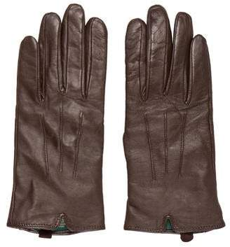 Ralph Lauren Leather Cashmere-Lined Gloves