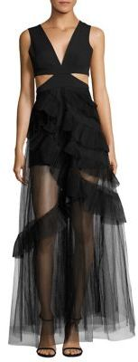 BCBGMAXAZRIA Joela Cutout Tulle Dress $498 thestylecure.com