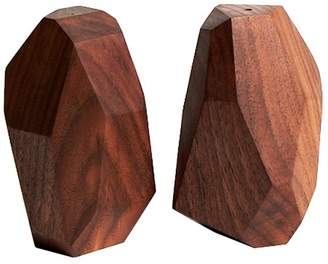 Wilson Reed Design Faceted Wood Salt & Pepper Shakers (Set of 2)