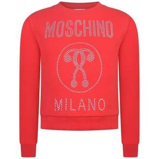 Moschino MoschinoGirls Red Studded Milano Sweater