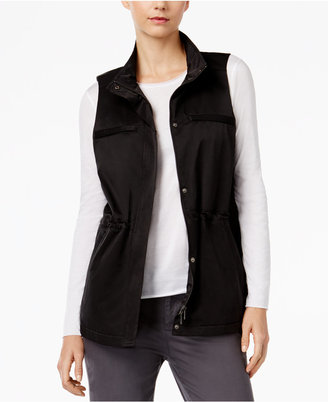 Eileen Fisher Organic Cotton-Blend Stand-Collar Vest $258 thestylecure.com