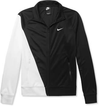 Nike Logo-Print Colour-Block Tech-Jersey Track Jacket