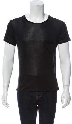 Saint Laurent Short Sleeve Silk T-Shirt