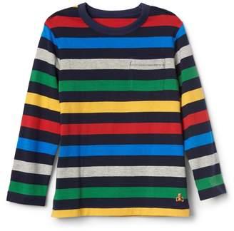 Gap Stripe long sleeve pocket tee