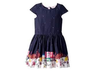 Joules Kids Printed Border Party Dress (Toddler/Little Kids/Big Kids)