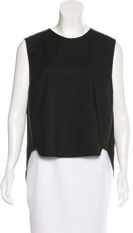 3.1 Phillip Lim 3.1 Phillip Lim Leather-Trimmed Sleeveless Top