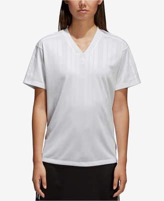 adidas Jacquard V-Neck T-Shirt
